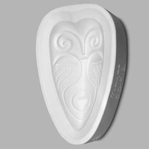 Mayco Mold CD-912 African Mask (Heart Shaped)