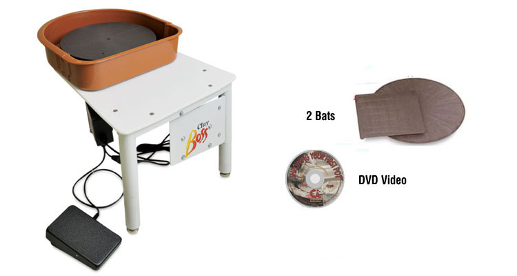 Speedball Clay Boss Potter's Wheel Package
