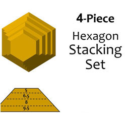 G.R. Pottery Forms Hexagon Stacking Set