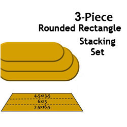 G.R. Pottery Forms Rounded Rectangle Stacking Set