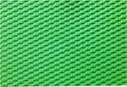 Green Basket Weave Rubber Texture Mat