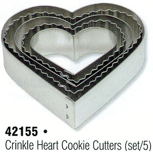 Crinkle Heart Cookie Cutter Set