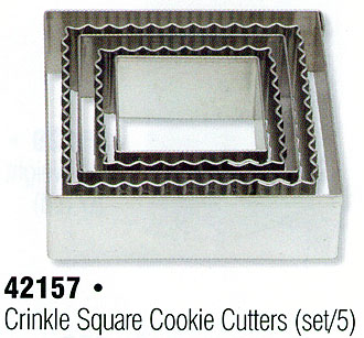 Crinkle Square Cookie Cutter Set