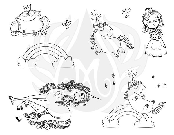 Mayco Designer Silkscreen DSS-146 Princess and Unicorns