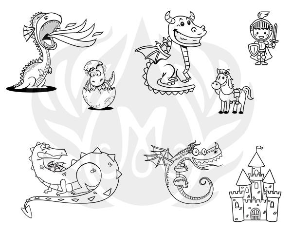 Mayco Designer Silkscreen DSS-154 Cute Dragons