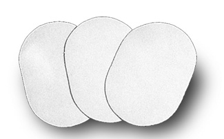 Oval Sanding Pads, 120/220,  		280/400 Grit