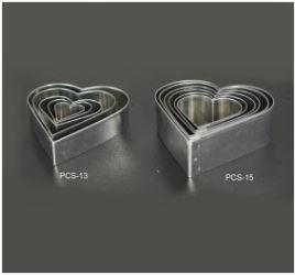 PCS15 Heart Cutter Set - 6 pieces