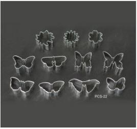 PCS22 Butterfly & Flower Cutter Set - 11 pieces