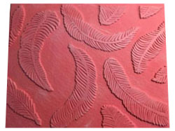 Pottery PTQ43 Feathers Rubber Texture Mat