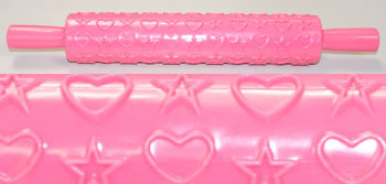 Clay Texture Roller Hearts and Stars