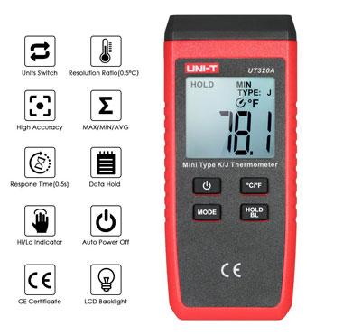UNI-T UT320A Portable Digital Pyrometer